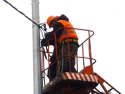 Восстановление наружного освещения в Красногорске ведется оперативно.