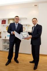 Глава Красногорского муниципального района посетил завод компании КНАУФ.