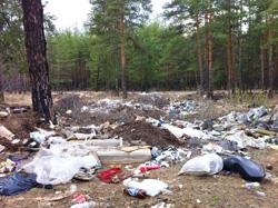 """""""Засада"""" помогла предотвратить несанкционированный сброс 1.000 кубометров мусора."""