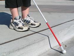 """К Международному дню """"Белой трости"""" Отделом ГИБДД Красногорского района проведены мероприятия, направленные на повышение безопасности незрячих и слабовидящих пешеходов."""