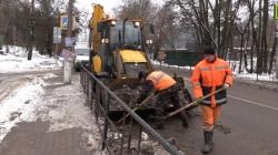 Уборка снега в Красногорске.