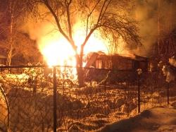 Зимний пожар в частном жилом доме мкр Опалиха, города Красногорска - 1 февраля 2017 года!