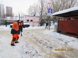 Уборка от снега в Красногорском районе на контроле!