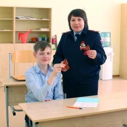 Полицейские УМВД России по Красногорскому району присоединились к акции «Георгиевская ленточка».