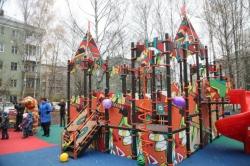 Две детские площадки по губернаторской программе открылись в Красногорске.