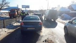 Авария в Нахабино между автомобилями «Волга Сайбер» и «Рено Дастер».