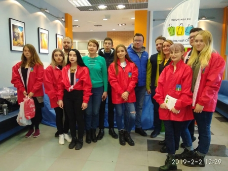 Молодёжный парламент го Красногорск принял участие в экологической акции «Единый день раздельного сбора».