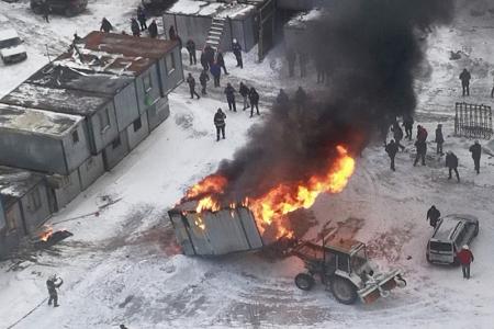 В мкр Павшинская пойма произошел пожар в строительной бытовке на улице Спасская.