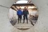 Глава го Красногорск осмотрела строительную площадку реконструкции канализационного коллектора в Павшинской пойме.