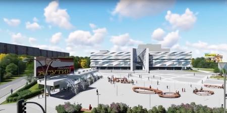 """Как будет выглядеть фасад и площадь у ДК """"Подмосковье"""" в Красногорске, где будет расположен фонтан, уютное кафе и огромный информационный стенд?"""