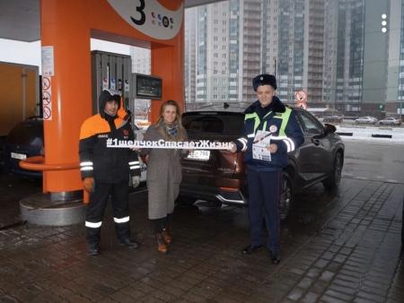 Сотрудники Госавтоинспекции го Красногорск провели тематические беседы на автозаправочных станциях!