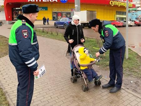 В Подмосковном Красногорске сотрудники Госавтоинспекции провели профилактическое мероприятие «Пешеход».