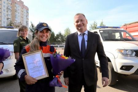 Глава городского округа Красногорск поблагодарил спасателей за тушение лесного пожара.