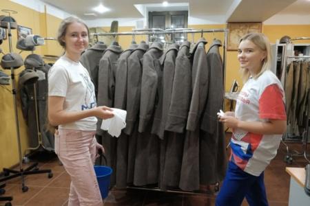 Волонтеры оказали помощь красногорскому военно-историческому центру!