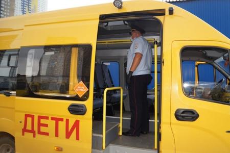 Сотрудники Госавтоинспекции г.о. Красногорск перед началом учебного года проводят проверки школьных автобусов.